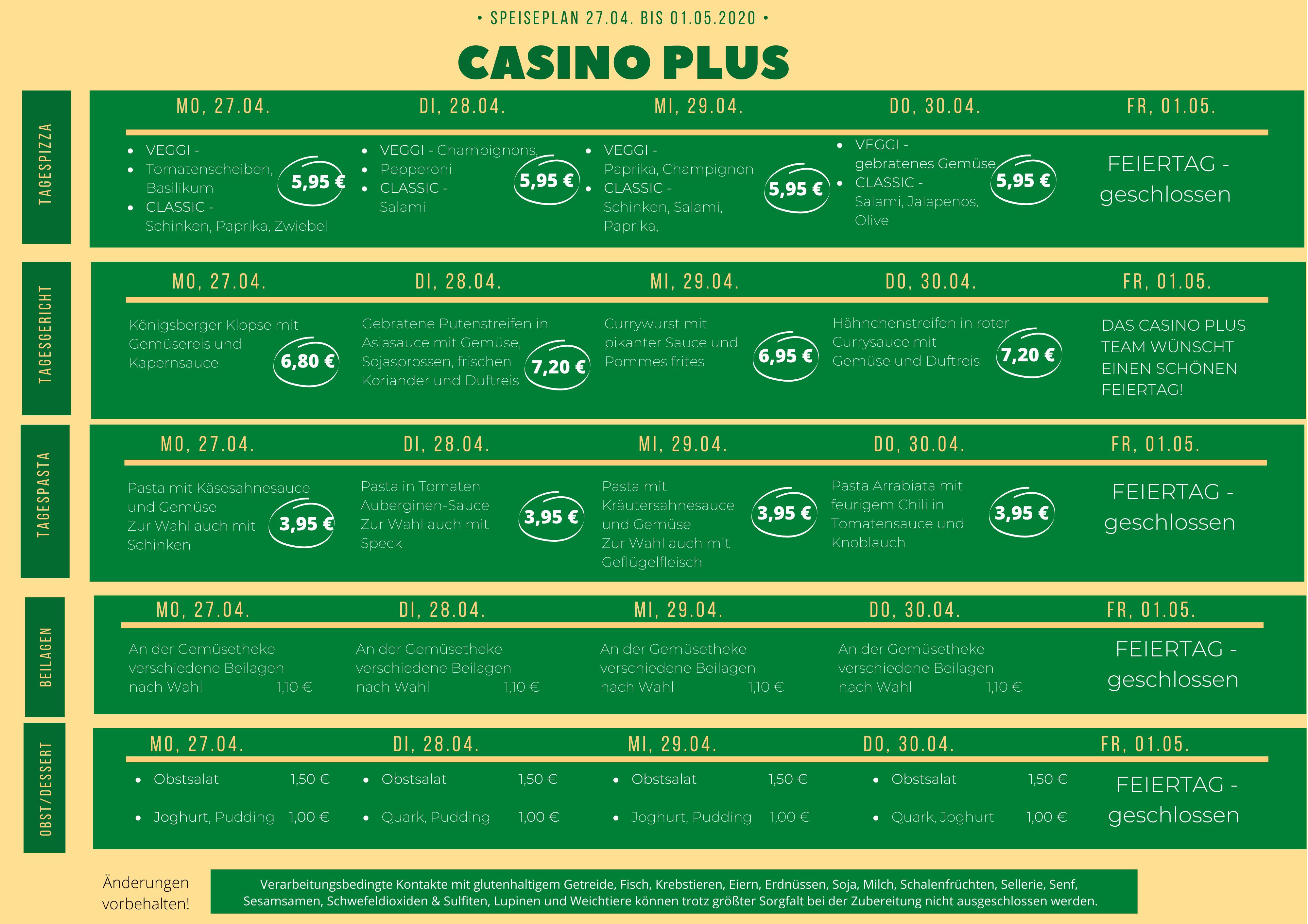 Casino Ukt Speiseplan